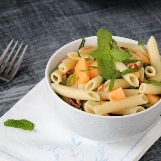 Kid Cultivation: Pasta Salad with Bacon, Melon, and Feta