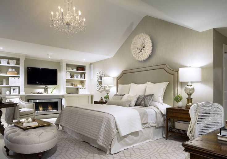 clean white and gray bedroom