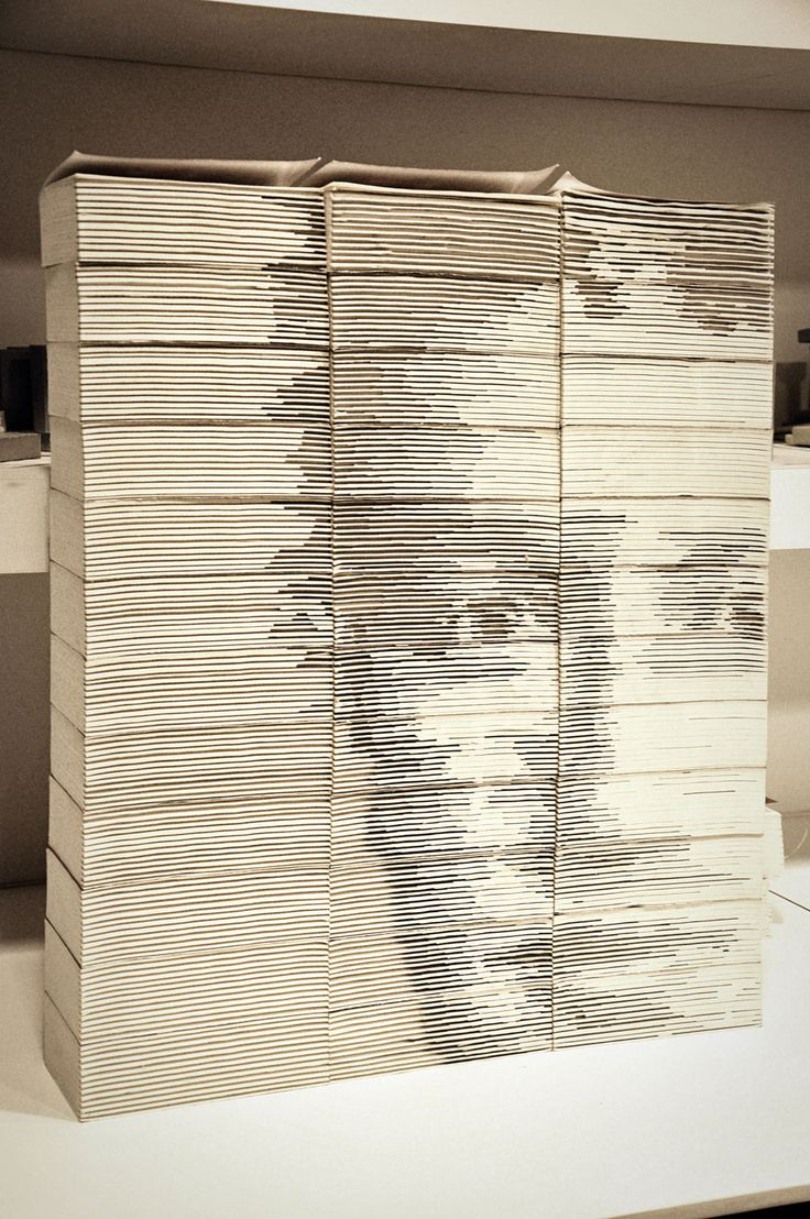 OMG...Mark Zuckerberg Portrait Created from Carved & Stacked Books rt @bitrebels #facebook