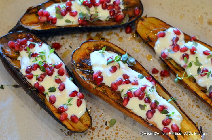 Eggplant with Buttermilk Sauce Zahtar & Pomegranates Peasant Couture ...