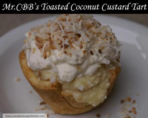 Toasted Coconut Custard Tart Mr.CBB | Dessert Recipes | Pinterest