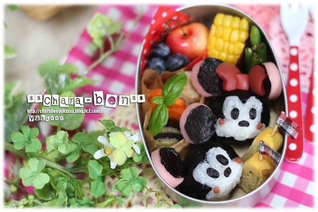 Mickey & Minnie bento | Bento lunches | Pinterest