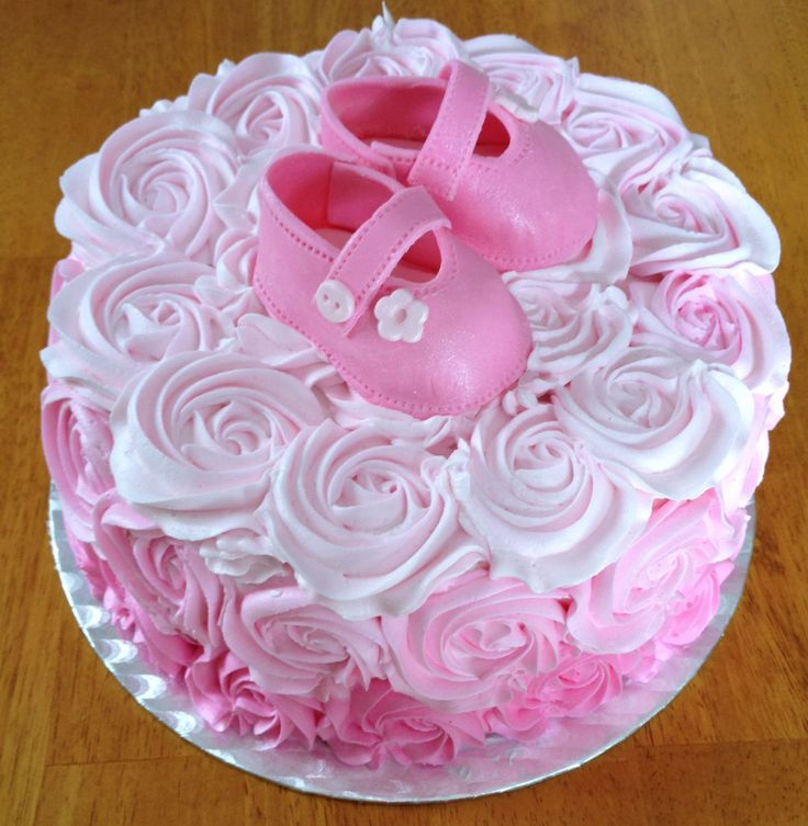 Baby Shower Cake Pictures For A Girl : Girl baby shower cake My cakes Pinterest