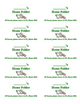 Student home folder labels just click download and edit to quickly