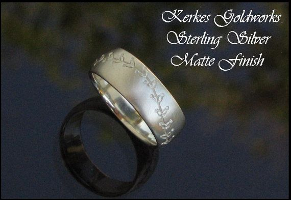 Handmade Baseball Stitching Wedding Ring By Kerkesgoldworks