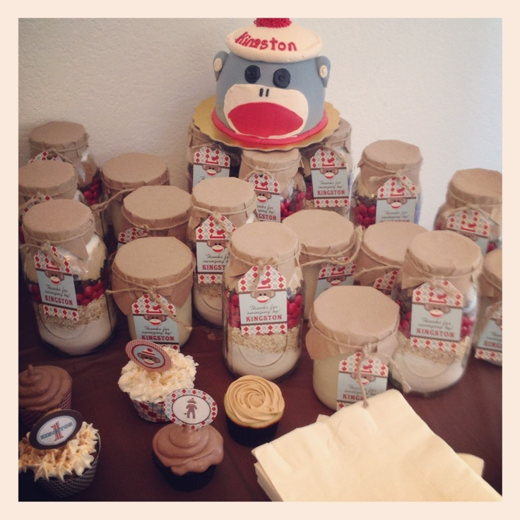 """monkey bread"""" recipe jar favors 