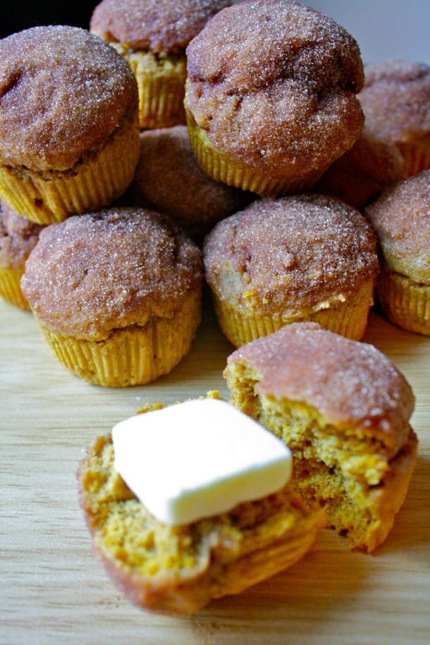 whole wheat pumpkin doughnut muffins | Breakfast | Pinterest
