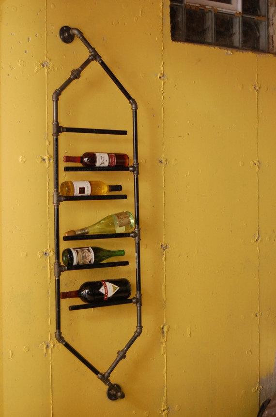 Great idea! Pipe wine rack
