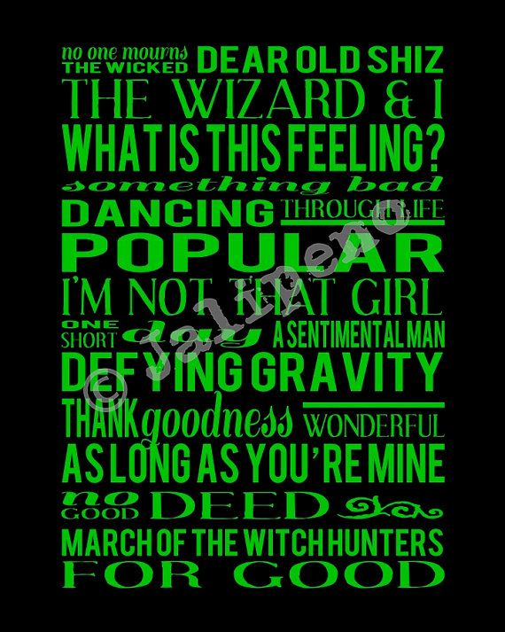 Love Quotes Wicked Musical: Wicked quotes for the first time ...
