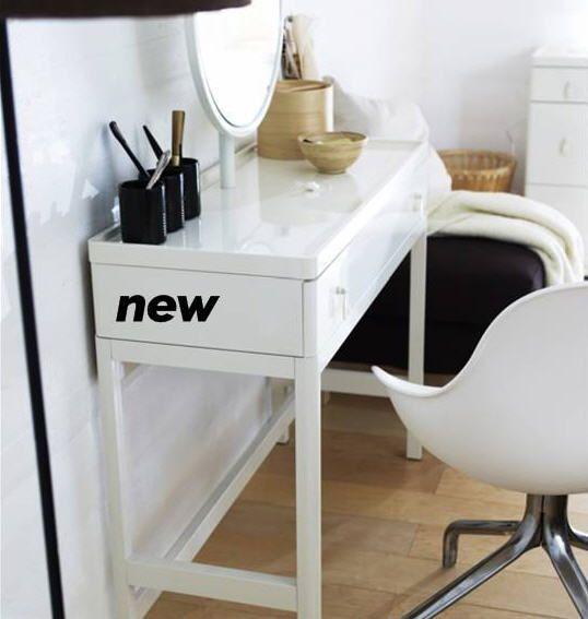 Ikea vinstra dressing table master bedroom pinterest for Dressing table ikea