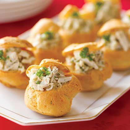 Chicken Salad Stuffed Cheese Puffs; Easy to prepare and less than a ...