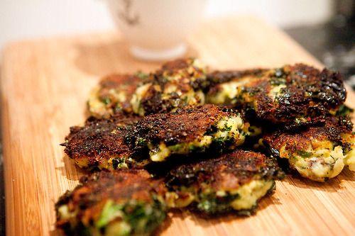 Potato and Kale Cakes with Rouille | spork me | Pinterest