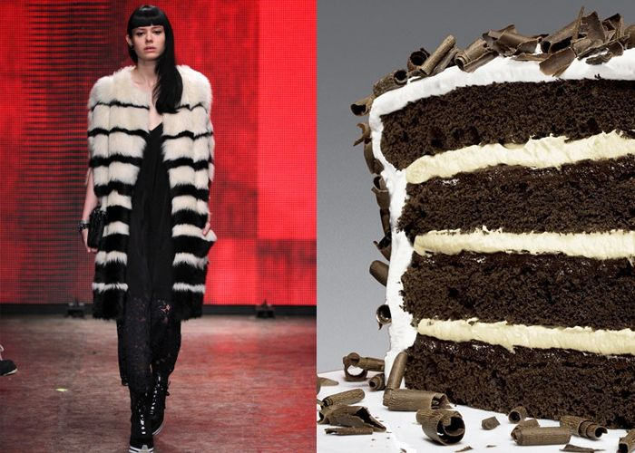 ... Recipes. #DKNY and Devil's Food Layer Cake with Peppermint Frosting