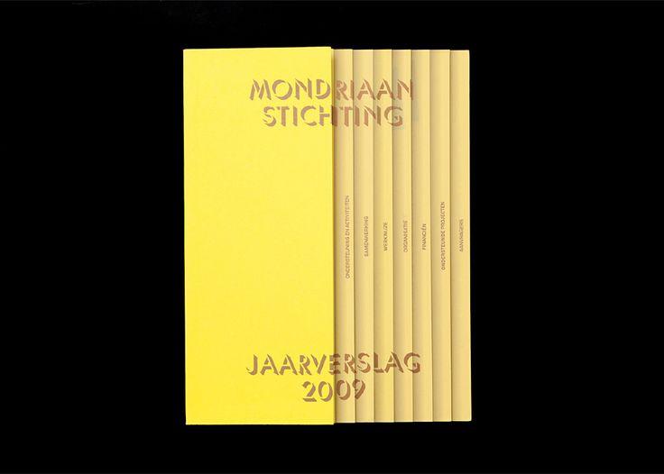 Mondriaan Foundation, Annual Report & Poster by Karen van de Kraats