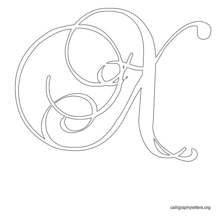 Calligraphy letter stencil colors sketch n design