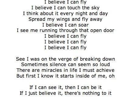 i believe i can fly r kelly i am jacks divine playlist
