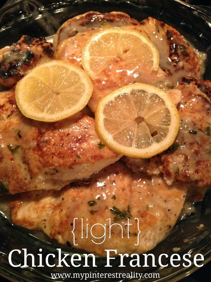 light} Chicken Francese | recipes I want to try | Pinterest