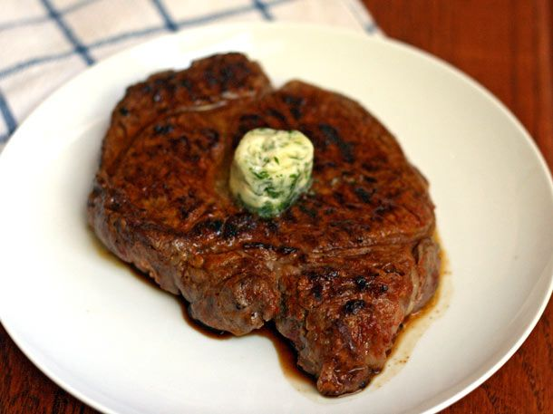 Dinner Tonight: Cayenne-Rubbed Ribeyes with Lime Butter | Recipe