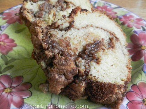 Cinnamon Swirl Sour Cream Coffee Cake- moist and delicious