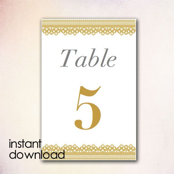 DIY Table Numbers Template - Instant Download Microsoft Word version ...