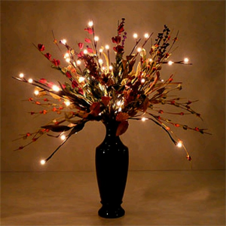 Lighted centerpiece july 6 2013 pinterest for Lighted centerpieces