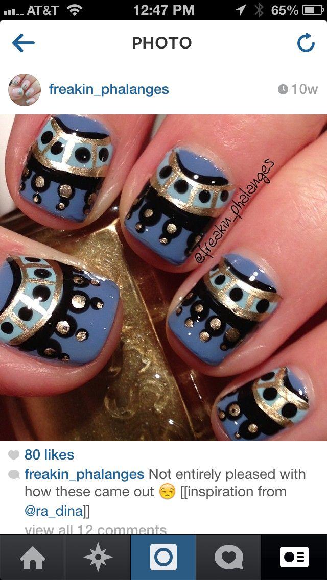 Freehand nail design | Skilled Hand Jobs | Pinterest