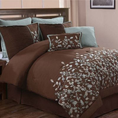 Blue And Brown Bedding For The Home Pinterest