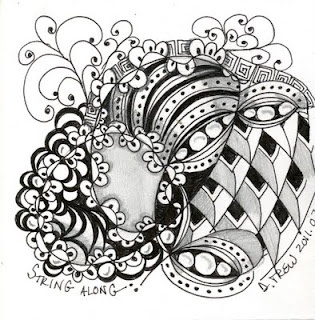 String Along by Diane Trew (for Zentangle Challenge - Creative Genesis)