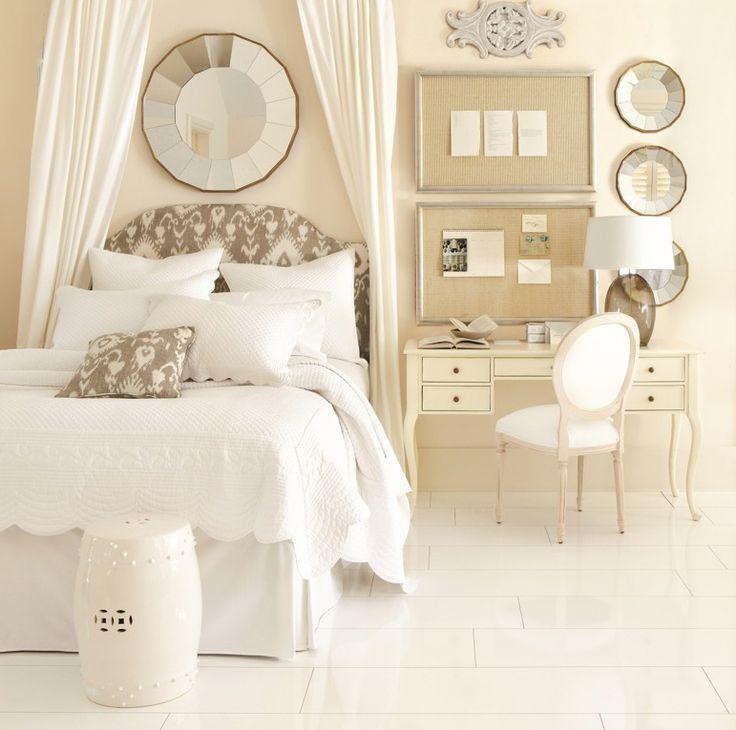 All White Bedroom Apartment Pinterest