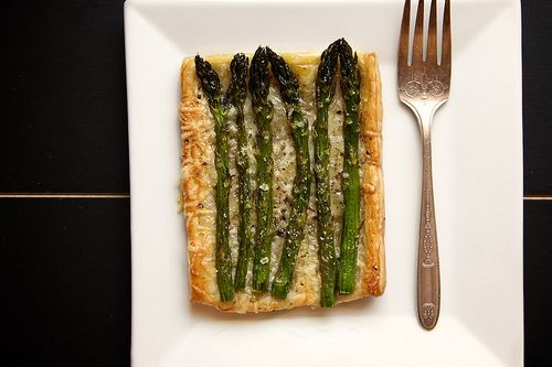 individual asparagus and gruyere tart by joy the baker