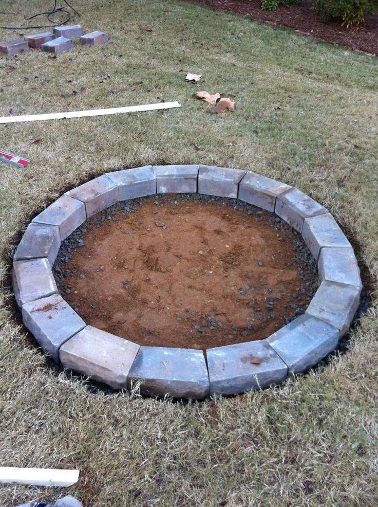 Fire pit patio pinterest for Cinder block fire pit