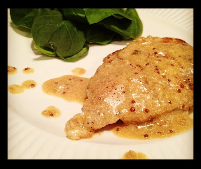 Chicken in creamy mustard sauce. Substitute oil and butter for coconut ...