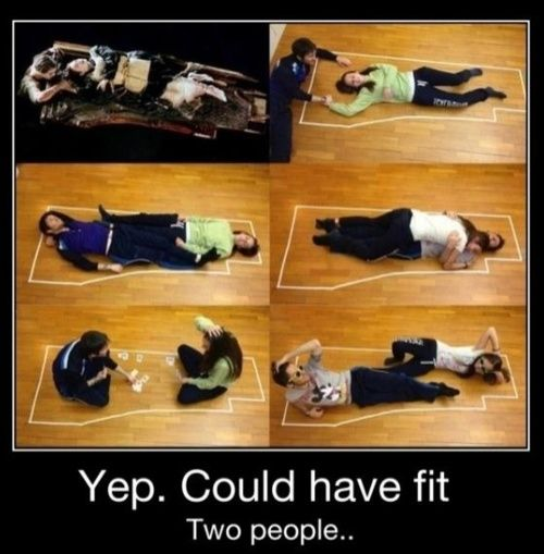 titanic. how jack could have fit.