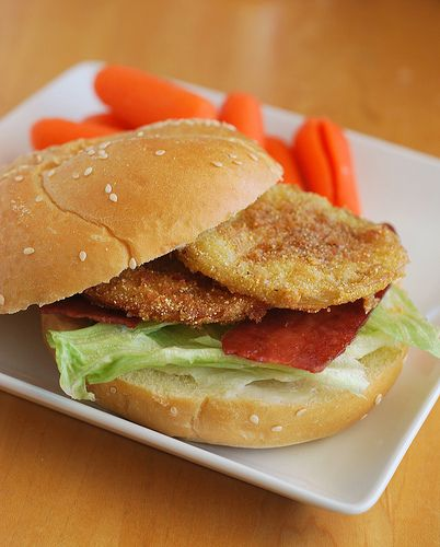 Fried Green Tomato BLT | Nom Nom Nom | Pinterest