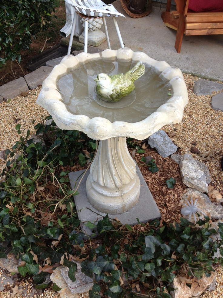 Concrete Bird Bath Bird Baths Houses Feeders Pinterest
