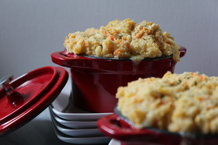 ... Chicken Pot Pies with Sweet Potato Biscuit topping (Gluten Free