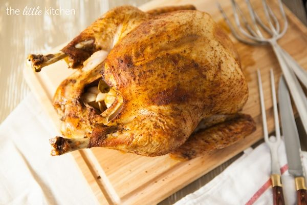 Savory Herb Rub Roasted Turkey from @Julie | The Little Kitchen