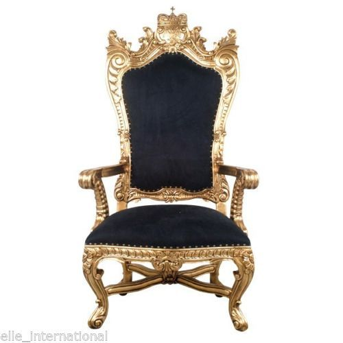 And queen chairs on pinterest throne chair king chair and chairs - Chair In Gold Amp Velvet Mahogany Hand Carved King Queen