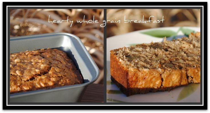 Oatmeal banana nut bread | Breads & Muffins | Pinterest