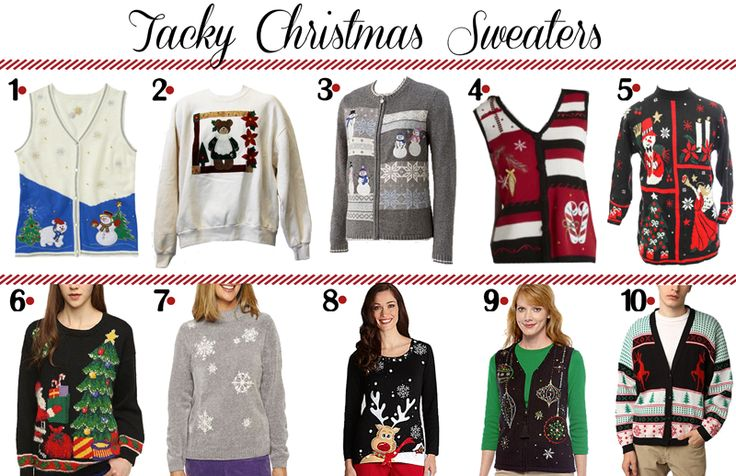 10 Tacky Christmas Sweaters | Christmas things | Pinterest