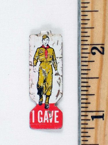 "Old Vintage ""I Gave"" BSA Boy Scouts of America Lapel Pin Tin Tab ..."
