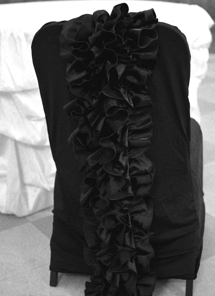 Spandex ruffle banquet chair cover this fits loosely around the chair
