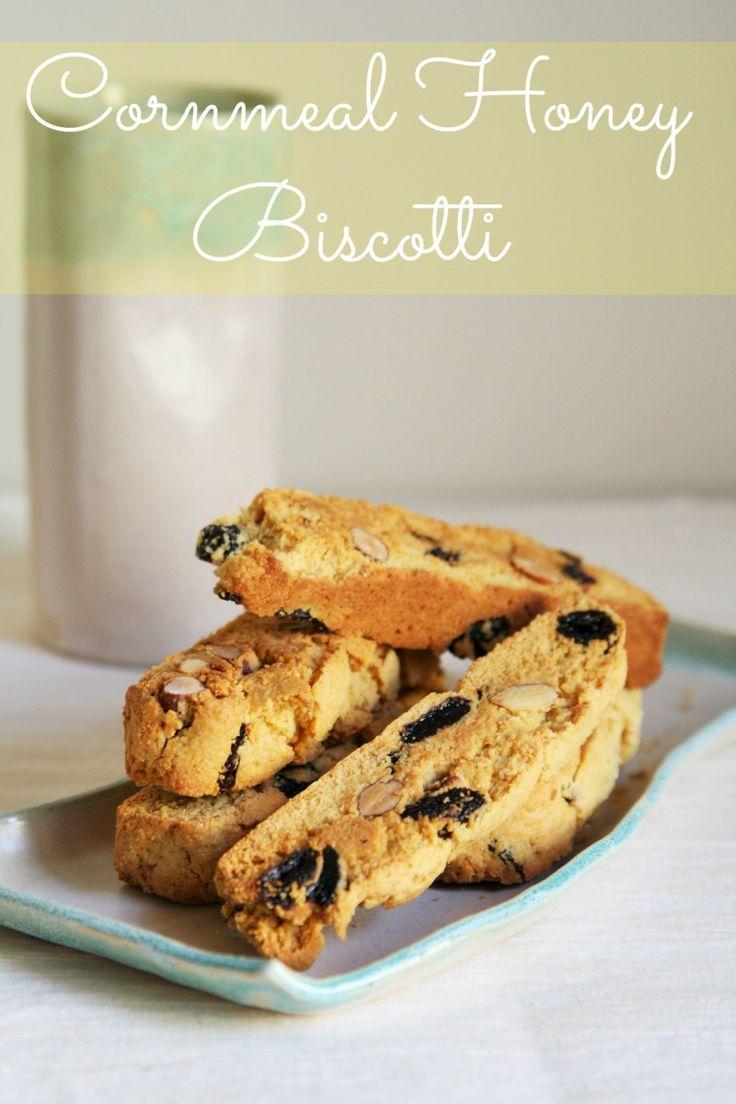 Cornmeal Honey Biscotti   * Biscotti *   Pinterest