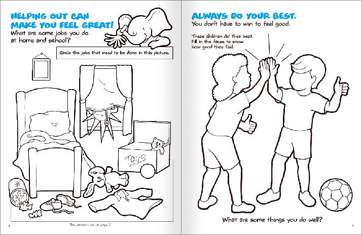 Free positive coloring pages for Self esteem coloring pages