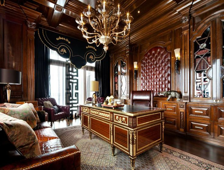 Opulent office study luxury home decor pinterest for Luxury home accessories online