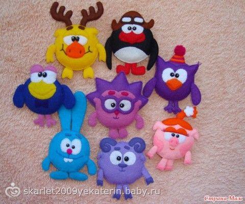 Игрушки из мультфильмов своими руками