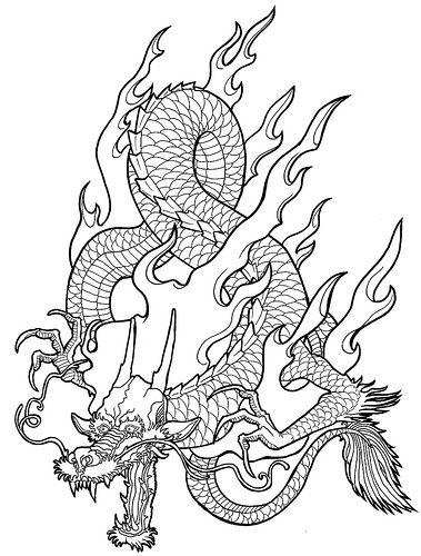 Line Drawing Dragon : Dragon line drawing art dragons pinterest