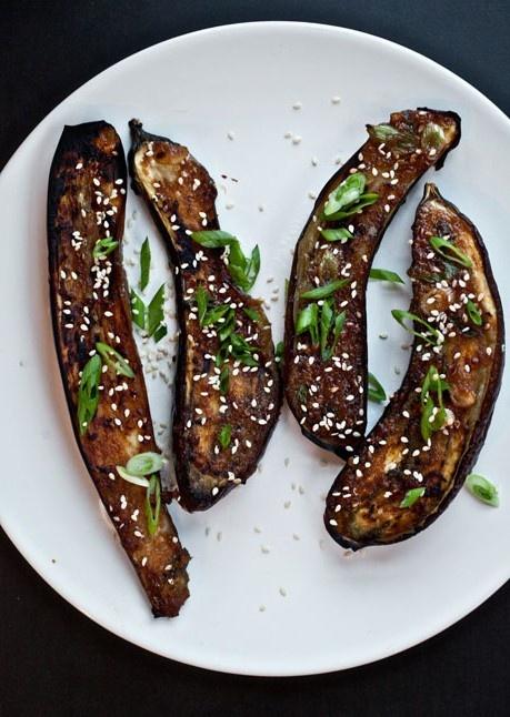 Ginger-Miso-Glazed Eggplant | Recipe