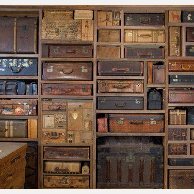 rustic wall unit for luggage vintage pinterest