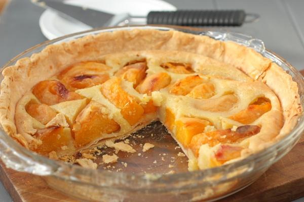 roasted peaches and cream pie